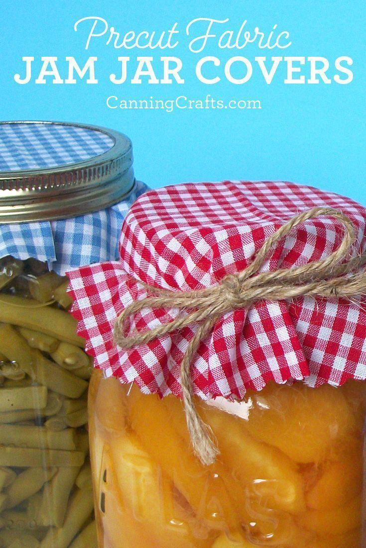 Cloth Jar Covers Canning Jar Gifts Canning Jar Labels Jam Jar