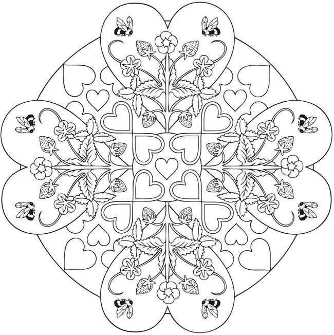 17 b sta bilderna om coloring pages hearts p pinterest m larb cker mandalas och adult. Black Bedroom Furniture Sets. Home Design Ideas