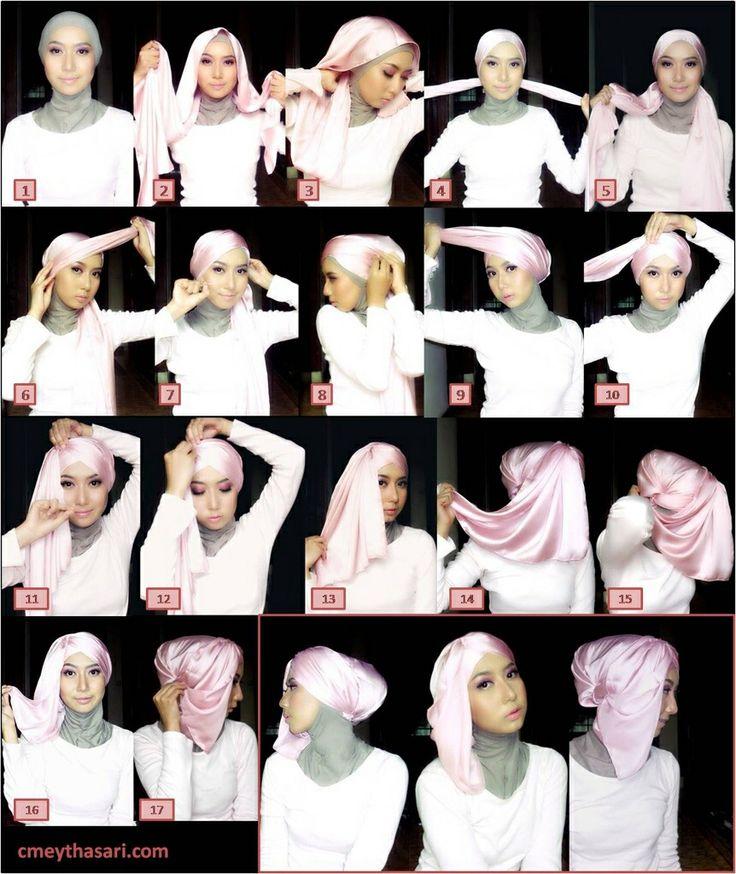 #hijab #satin #shawl #tutorial #stepbystep