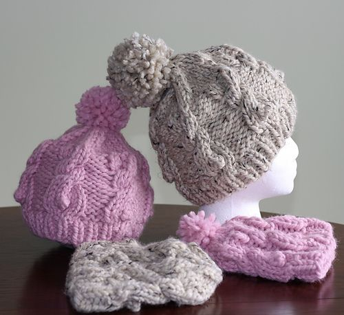 Ravelry: Cable Bunnies Hat pattern by Sharon Bond