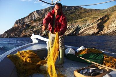 Fishing off the coast of Kea.