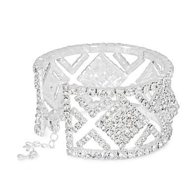 Diamante crystal square cutout cuff - Bracelets - Jewellery - Women -