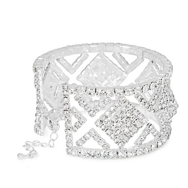 Diamante crystal square cutout cuff - Bracelets - Jewellery - Women -