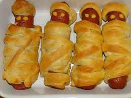 Mummy Dogs (Great For A Halloween Party Snack) - Grandpa Vic made these for our grandkids last weekend. They loved them!