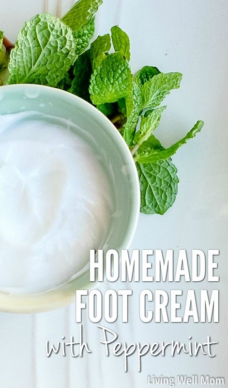 Looking for an easy way to relax? Try this homemade foot cream with peppermint! I'll show you two different ways to make it, and whichever method you choose, you'll love the soothing, moisturizing results!