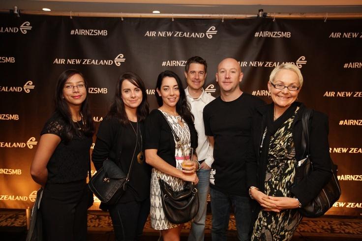 Guests at the photo wall #AirNZSMB