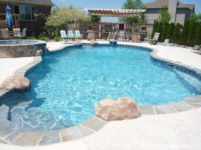We created this custom vinyl liner swimming pool with for Garden pool party 2015