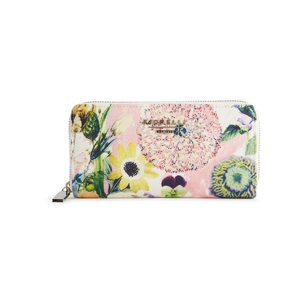 Fiorelli Women's Perrie Zip Around Purse - Summer Floral (1,845 PHP) ❤ liked on Polyvore featuring bags, handbags, floral handbags, fiorelli, fiorelli handbags, summer handbags and summer bags