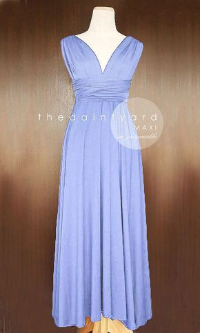 MAXI Periwinkle Bridesmaid Dress Convertible Dress by thedaintyard