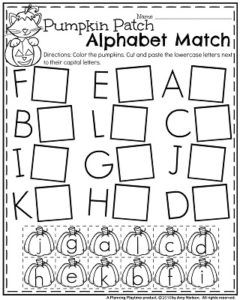 Printables Alphabet Worksheets For Preschool 1000 ideas about alphabet worksheets on pinterest russian preschool for october pumpkin patch matching upper and lowercase
