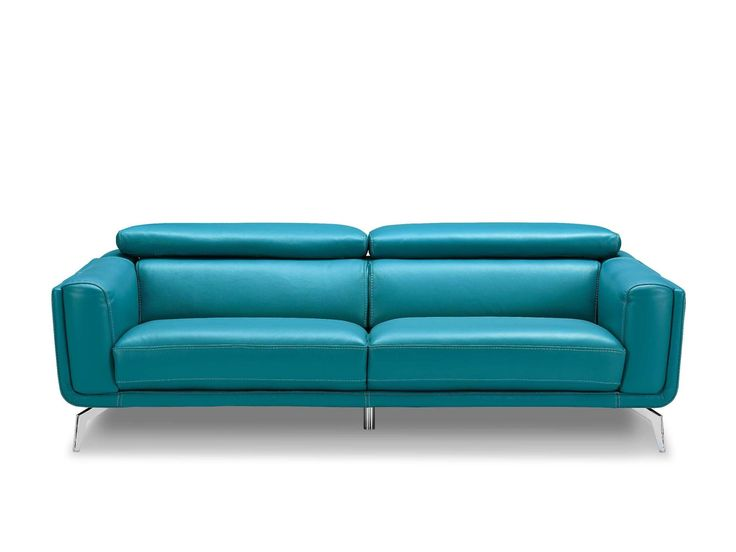 Sprint Modern Sofa In Blue Leather