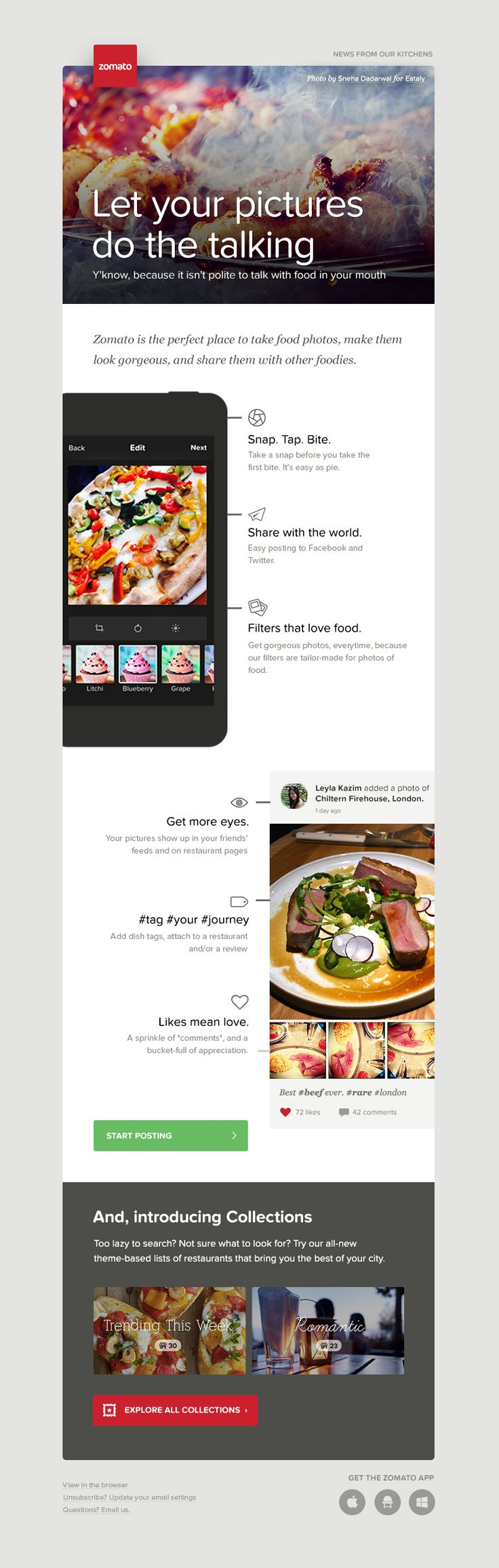 Mailer For Zomato By Juhi Chitravanshi In Graphic Design Web