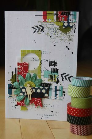 This a card but love the layers for on a scrapbook page!