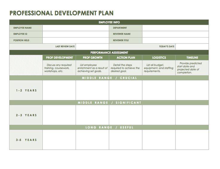 Professional development plan templates  Office Business
