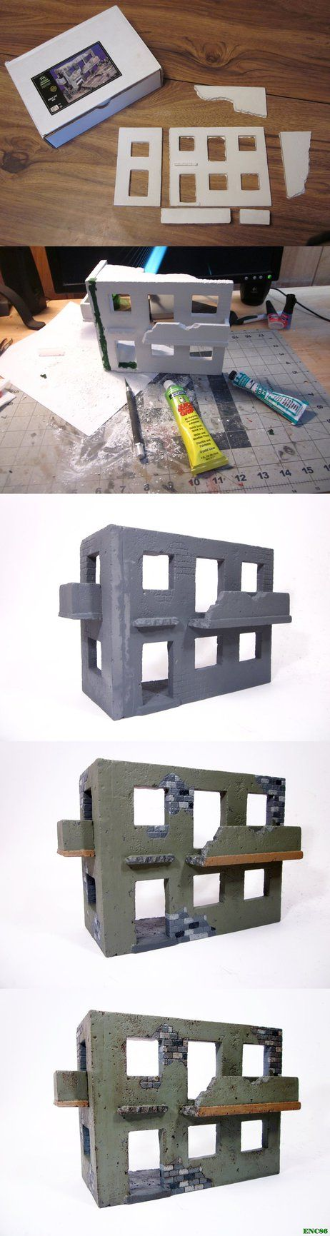 """Here is a couple days worth of work on a 1/35 ruined building for an upcoming diorama. The building is from """"Verlinden"""" and made out of plaster. While the kit is nice it does have a few draw backs ..."""