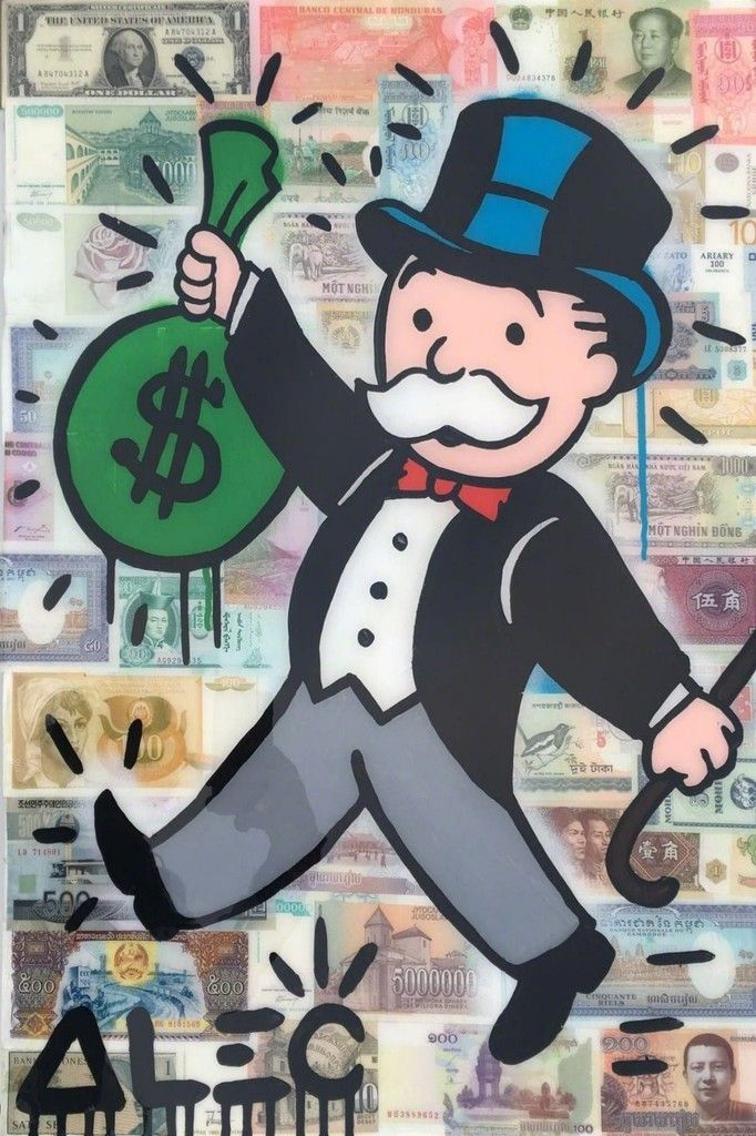 Alec Monopoly Money Over Money 2016 Avant Gallery Art