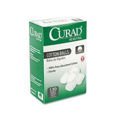 "Sterile Cotton Balls, 1"", 130/Box by Curad. $4.36. For application of antiseptics and medications and to cleanse scratches, cuts or minor wounds. Recommended for single use. Number of Pieces: 130."