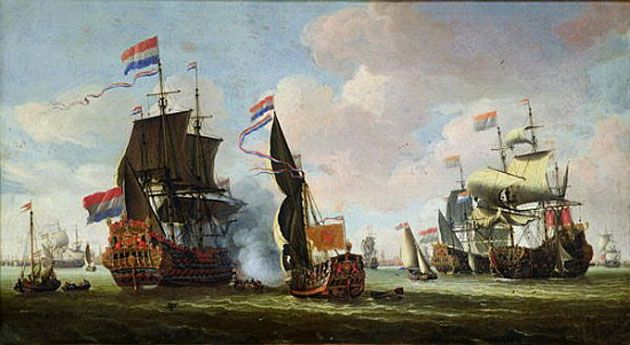The Arrival of Michiel Adriaanszoon de Ruyter (1607-76) in Amsterdam