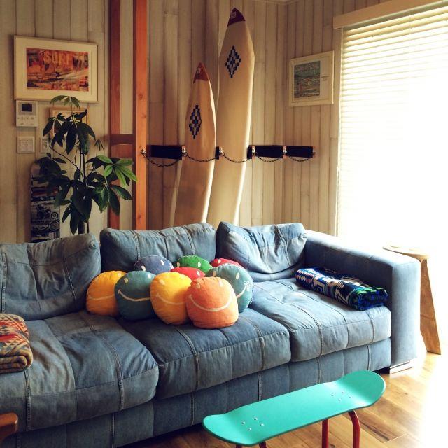 サーフボード/デニムソファ/WTW/ronherman/ロンハーマン/Lounge…などのインテリア実例 - 2015-03-08 03:15:07   RoomClip(ルームクリップ)