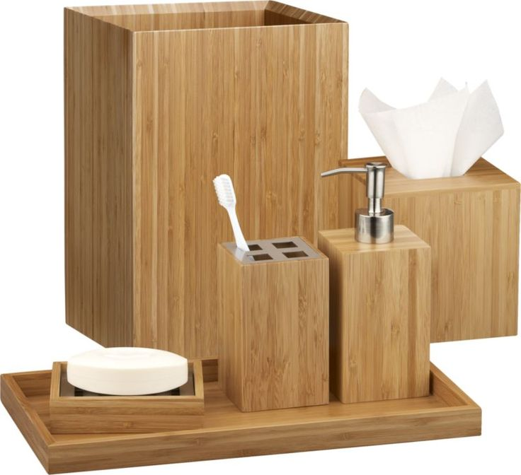 203 best images about crate and barrel on pinterest for Bamboo bathroom decorating ideas