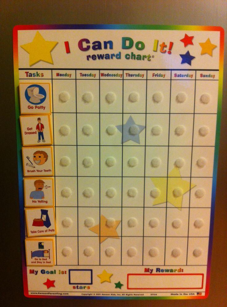 Behavior Chart Visual Routine Toddler Reward Chart