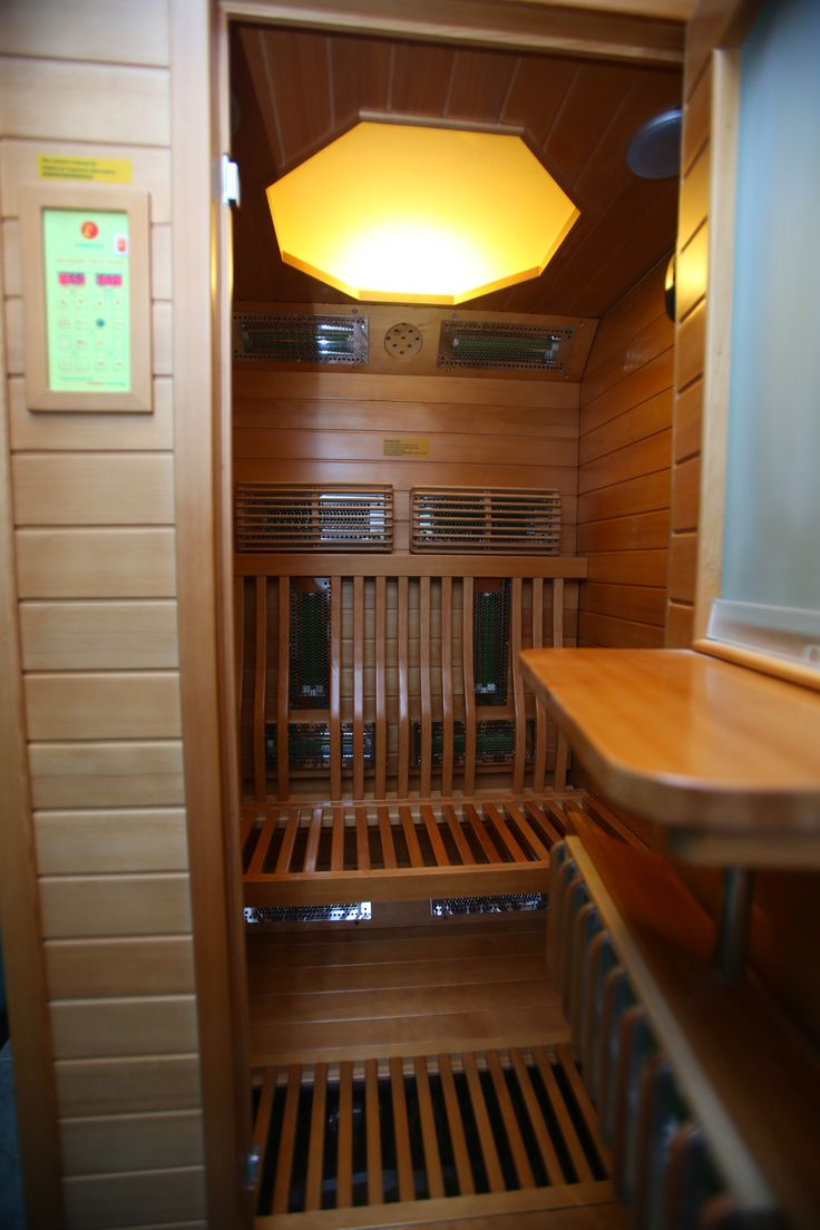 Our separate men's and women's wet spa areas provide Far Infra Red (FIR) medical saunas, steam rooms, Jacuzzis, cold plunge pools and ample space to rest and relax before and after treatment. Photo: Far Infra Red (FIR) medical sauna #sauna