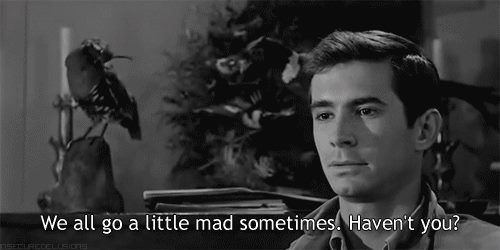 Anthony Perkins in Psyco (Psycho), (1960)