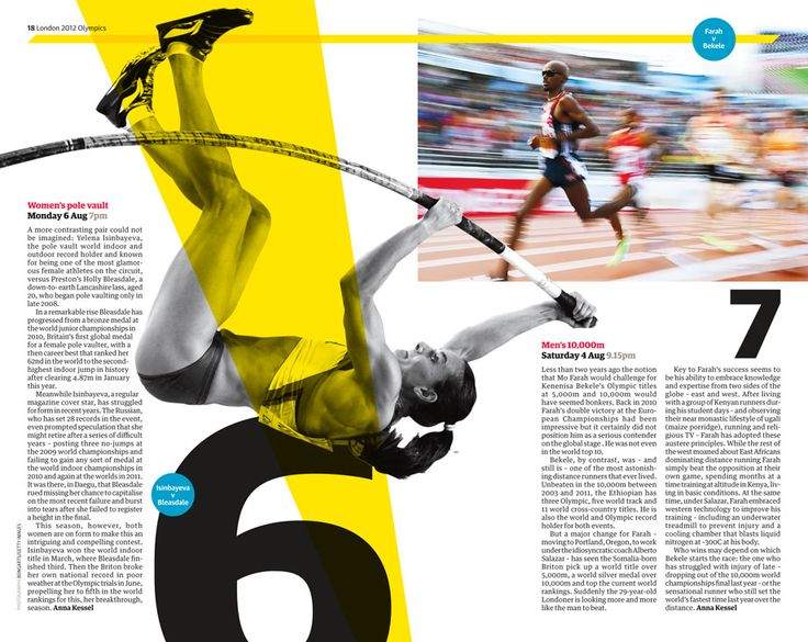 Page From Guardian Olympic Supplement Layout Amp Editorial