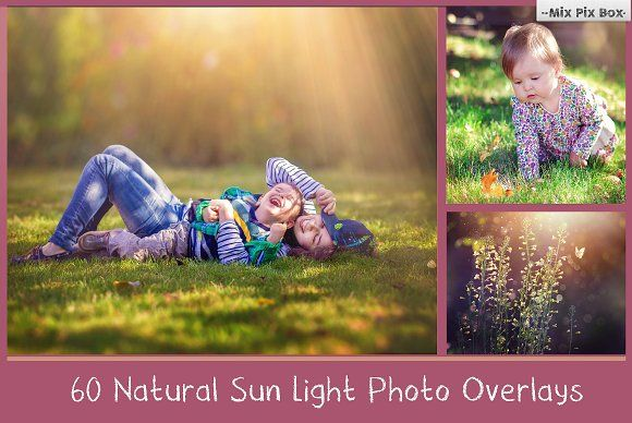 Natural Sunlight photo overlays - Actions