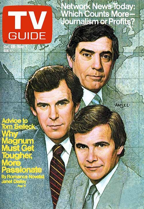 TV Guide, The Big Three Anchors (1985) - Amsel 013   I really love looking through the TV Guide as a kid!