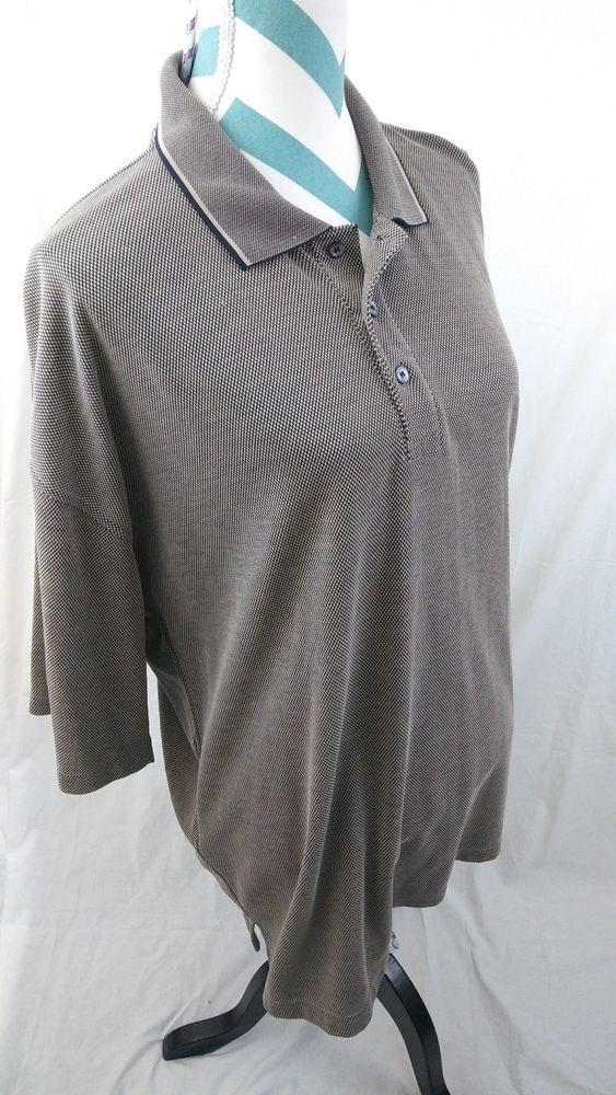 Nike Golf Men's Size XXL Brown Woven Textured Polo Shirt  #NikeGolf #PoloRugby#mensfashion