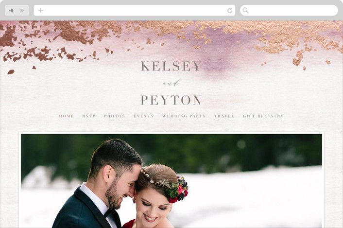This Is Pretty In Amethyst Ethereal Wash Wedding Websites In Ocean By Everett Paper Goods Wedding Website Free Wedding Wedding Website Design