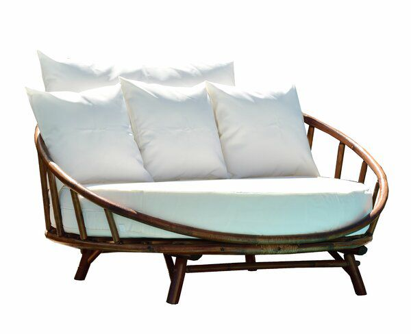 Olu Patio Daybed With Cushions In 2020 Patio Daybed Outdoor Daybed Outdoor Sofa