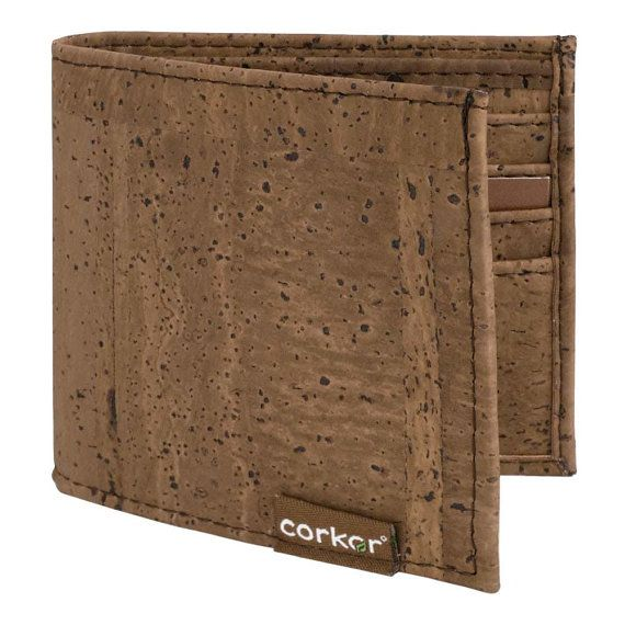 Eco Friendly Gifts for Him Cork Slim Wallet for Men by Corkor, $39.00