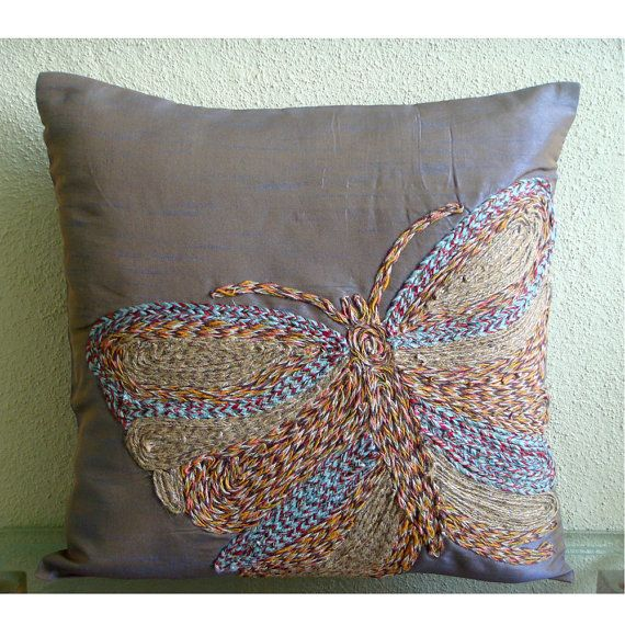 Colorful Butterfly  Pillow Sham Covers  24x24 by TheHomeCentric
