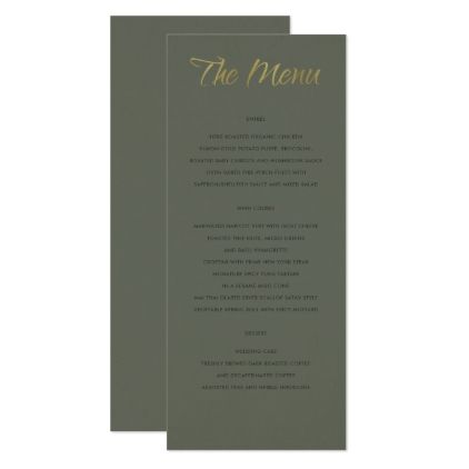 #initial - #SIMPLE ELEGANT GOLD GREY TYPOGRAPHY menu card