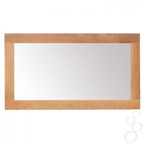Solid Oak Framed Mirror For Bathroom Or Hallway Large