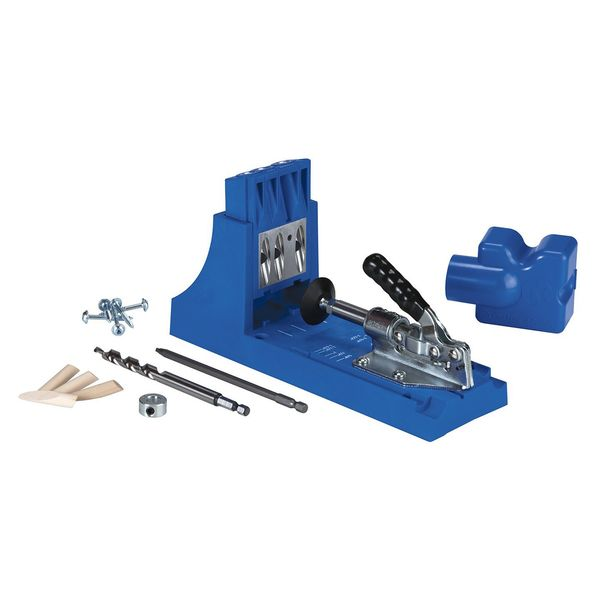 The Kreg Jig (K4) is the perfect choice for do-it-yourselfers and anyone new to Kreg Joinery. Whether you're building your first set of garage storage shelves or making simple repairs around the house