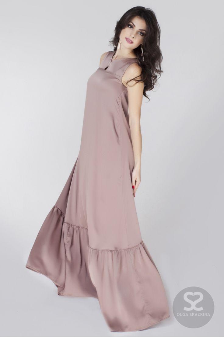 Длинное платье из шелка на сайте дизайнера. Купить шелковое платье.   Skazkina