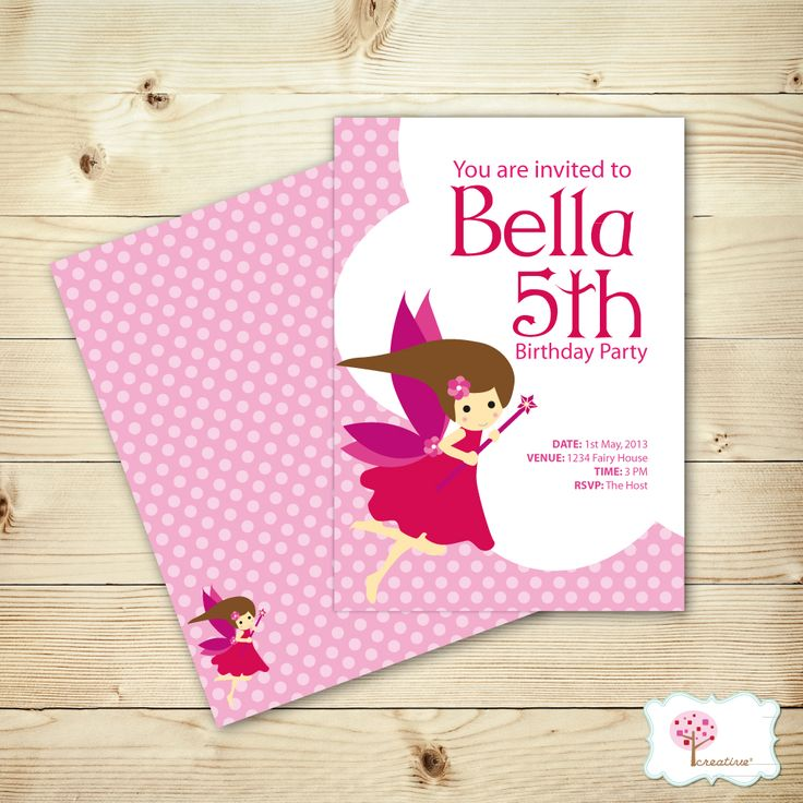 Lovely Pink Fairy Birthday Invitations!  http://creativesquare.com.au/collections/home/products/little-fairy-party-invites