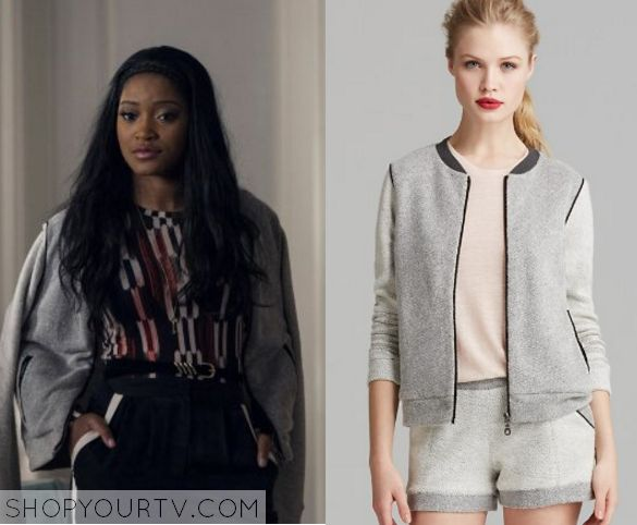 Scream Queens: Season 1 Episode 6 Zayday's Grey Bomber Jacket