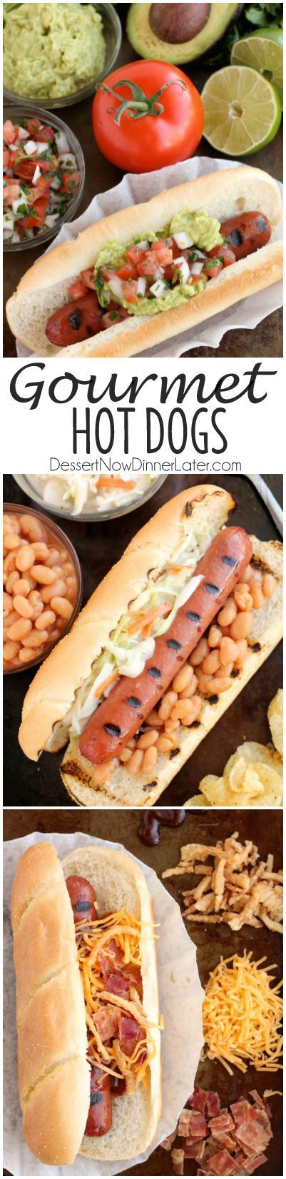 For your next barbecue or backyard grilling party, impress your guests with these Gourmet Hot Dogs 3 Ways: Mexican, Southern, and Western-style.  #FinestGrillathon #ad