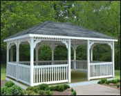 This website lets you create and order your own gazebo, pergola, sunroom, etcetera, as a kit.
