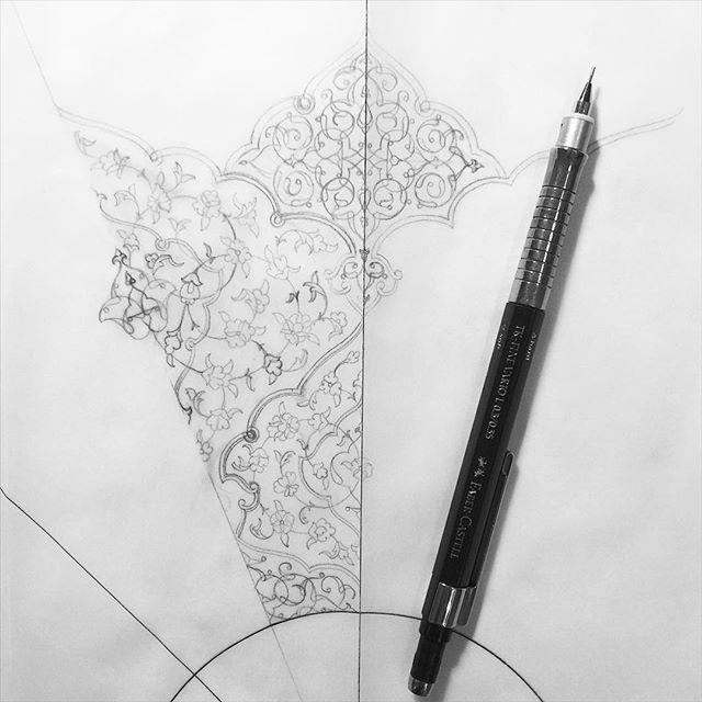 #doodles #sketches #drawing #art #sacredart #islamicart #shamsa #tezhip #jeddah #saudiarabia #artist #love