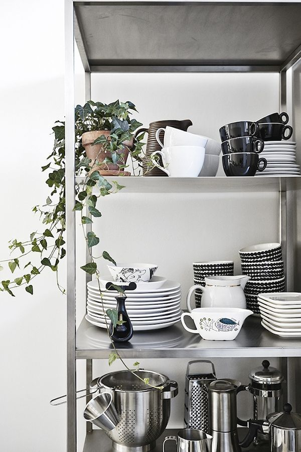 IKEA Hyllis is a cool shelving unit that can be used in many modern spaces, indoors and outdoors. It must be fastened to the wall, and the back panel has predrilled holes to make it easier. The includ