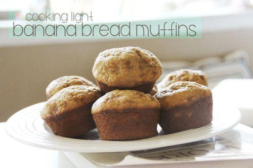 healthy banana bread muffins | i heart food