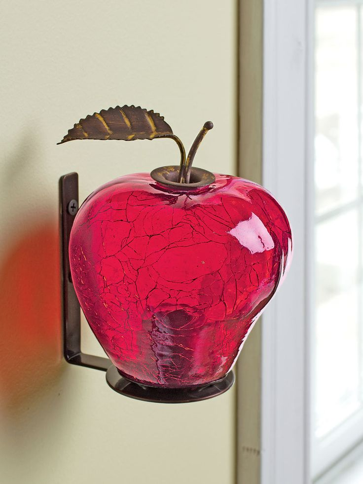Fruit Fly Trap Appled Shaped Crackle Glass Gardener S Supply Apartment Patio Decor