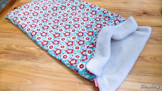 Dog sleep sack tutorial. Burrow bag. Dachshund snuggle blanket
