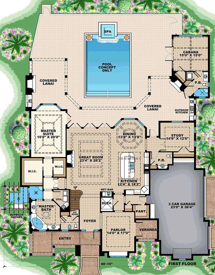 Florida Mediterranean House Plan 75938 Mediterranean