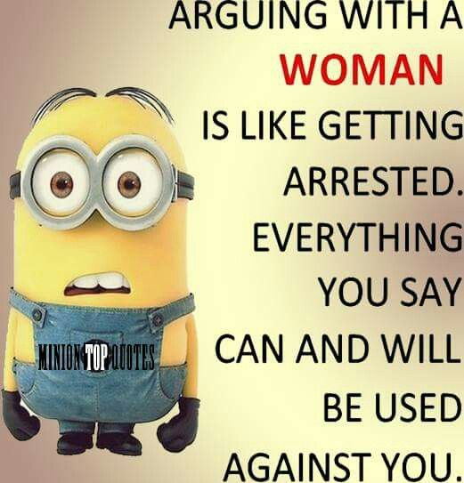 Arguing with a woman